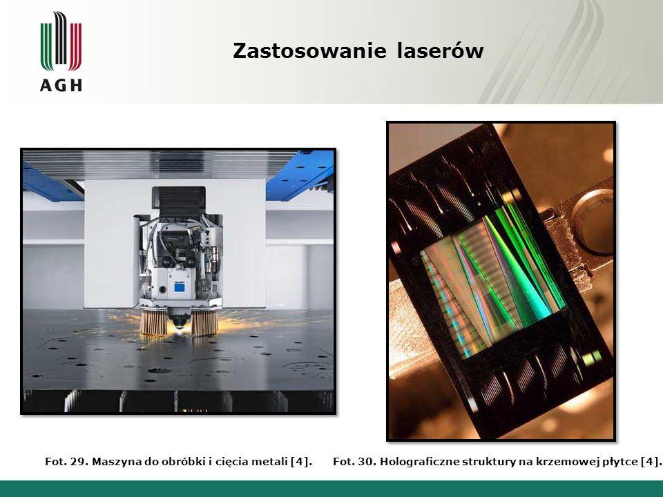Zastosowanie laserów Fot. 29. Maszyna do obróbki i cięcia metali [4].
